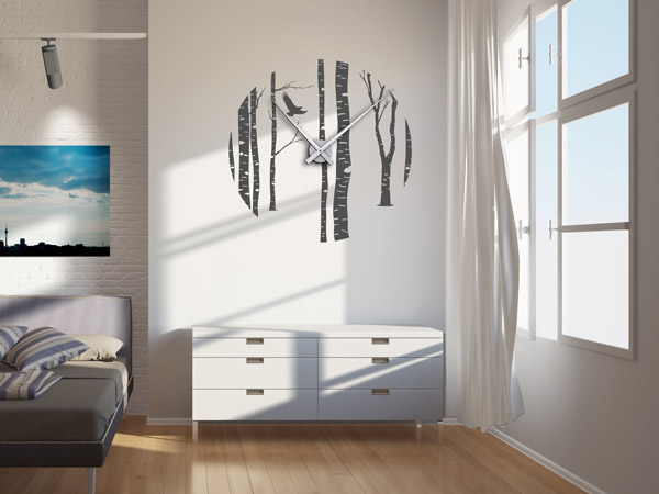 wandtattoos als gro e wanduhren moderne uhren mal anders. Black Bedroom Furniture Sets. Home Design Ideas