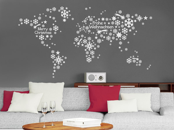 weihnachten wandtattoos weihnachtsdeko f r w nde. Black Bedroom Furniture Sets. Home Design Ideas
