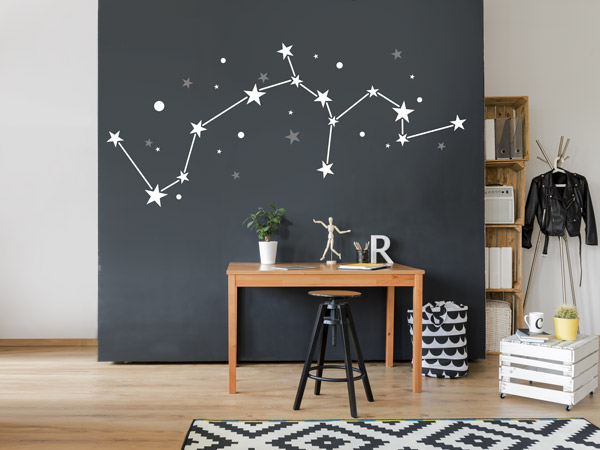 wei e wandtattoos f r schlafzimmer kinderzimmer und co. Black Bedroom Furniture Sets. Home Design Ideas