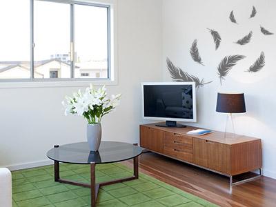 Wandtattoo ideen f r die wg im ratgeber von - Luftfeuchtigkeit im wohnzimmer ...