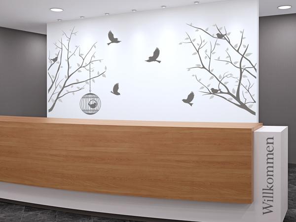 wandtattoo im standesamt stilvolle dekoration zur trauung. Black Bedroom Furniture Sets. Home Design Ideas