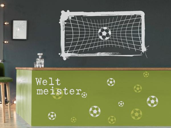 Wm deko mit wandtattoos die weltmeisterschaft feiern for Fussballtor kinderzimmer