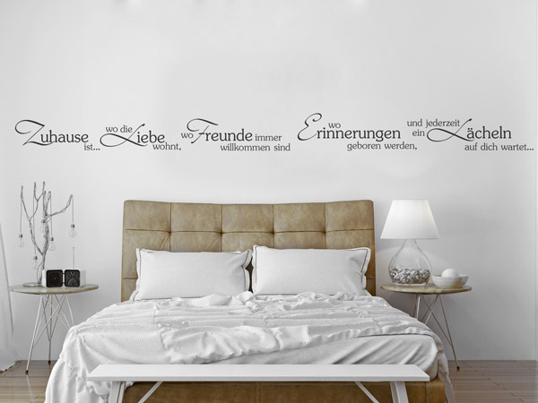 wandtattoo spr che umgestalten kreative ideen f r die wand. Black Bedroom Furniture Sets. Home Design Ideas