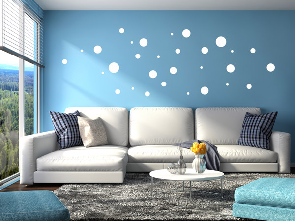 kreative klebepunkte wandtattoo dots als deko punkte. Black Bedroom Furniture Sets. Home Design Ideas
