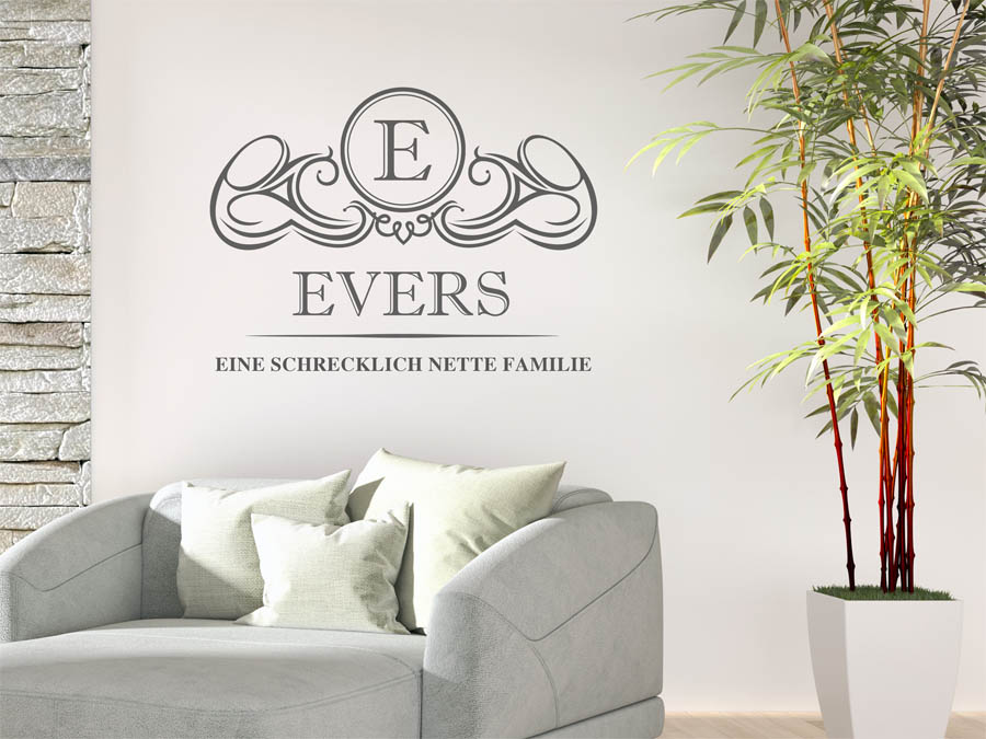 Familie Evers Wappen Als Wandtattoo. Schrecklich ...