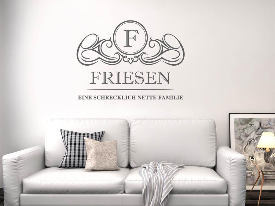 Gut Familie Friesen Wappen Als Wandtattoo