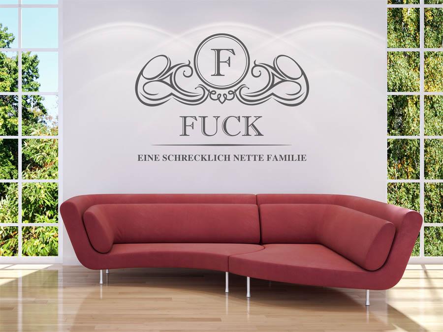 Familie Fuck Wappen Als Wandtattoo