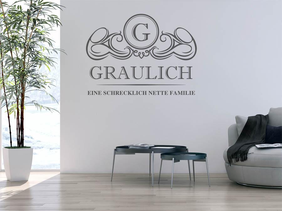 Familie Graulich Wappen Als Wandtattoo