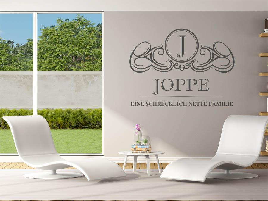 Familie Joppe Wappen Als Wandtattoo