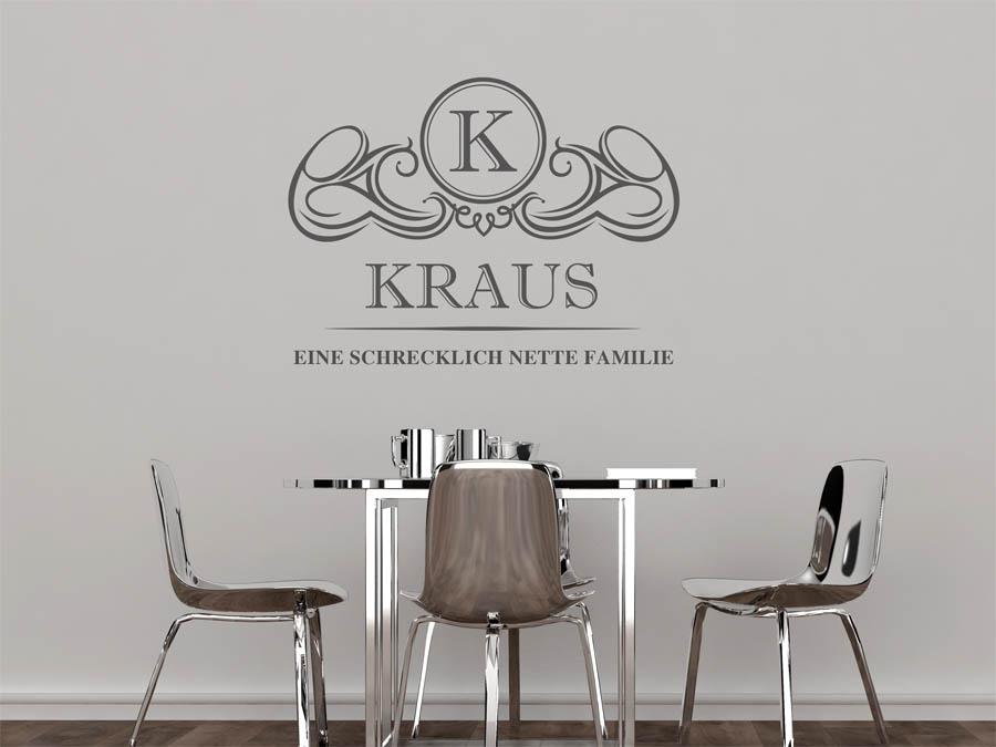 Familie Kraus Wappen Als Wandtattoo