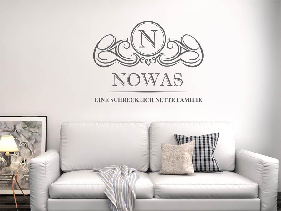 Familie Nowas Wappen Als Wandtattoo