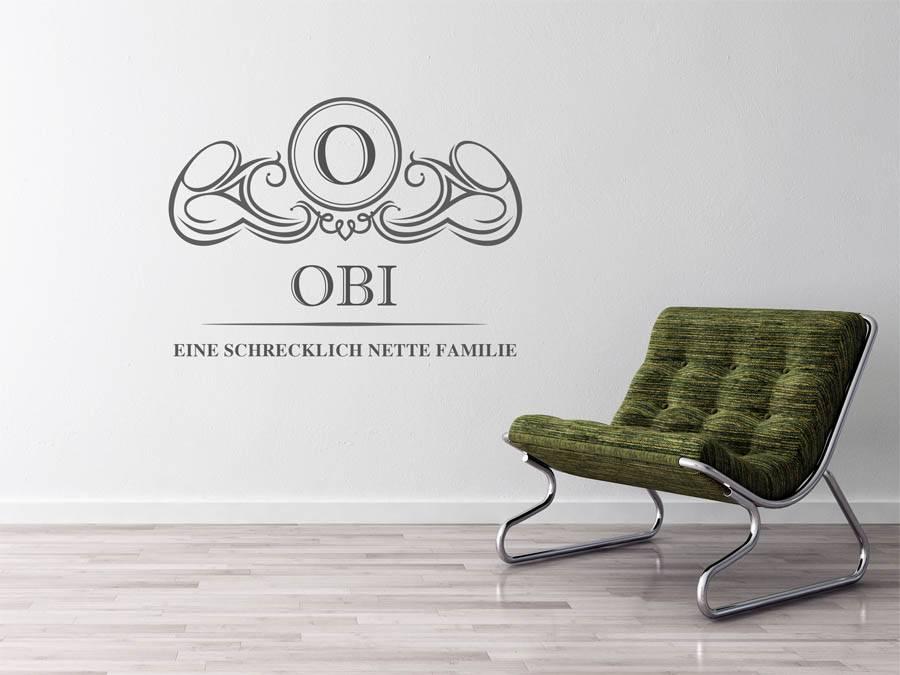 Wandtattoo Obi Als Monogramm Turschild Oder Familienwappen