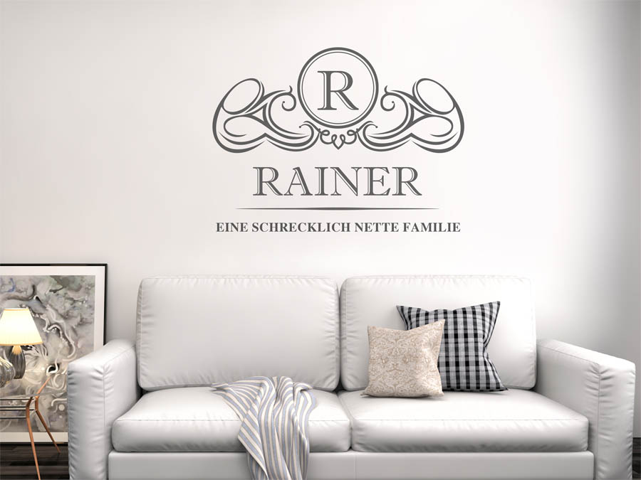 Familie Rainer Wappen Als Wandtattoo