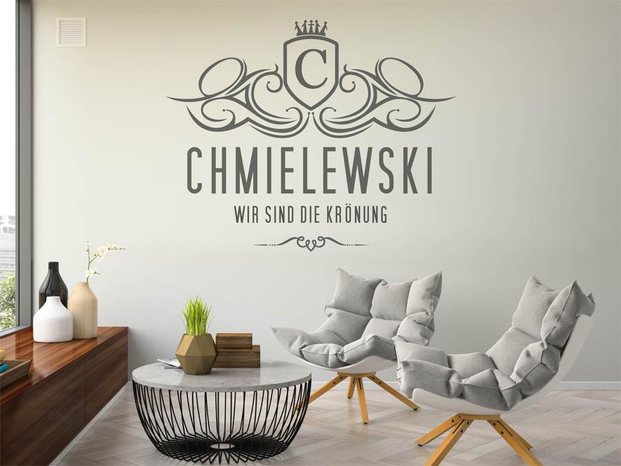 wandtattoo chmielewski als monogramm t rschild oder. Black Bedroom Furniture Sets. Home Design Ideas