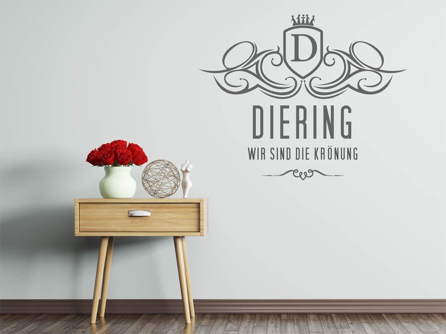 wandtattoo diering als monogramm t rschild oder. Black Bedroom Furniture Sets. Home Design Ideas