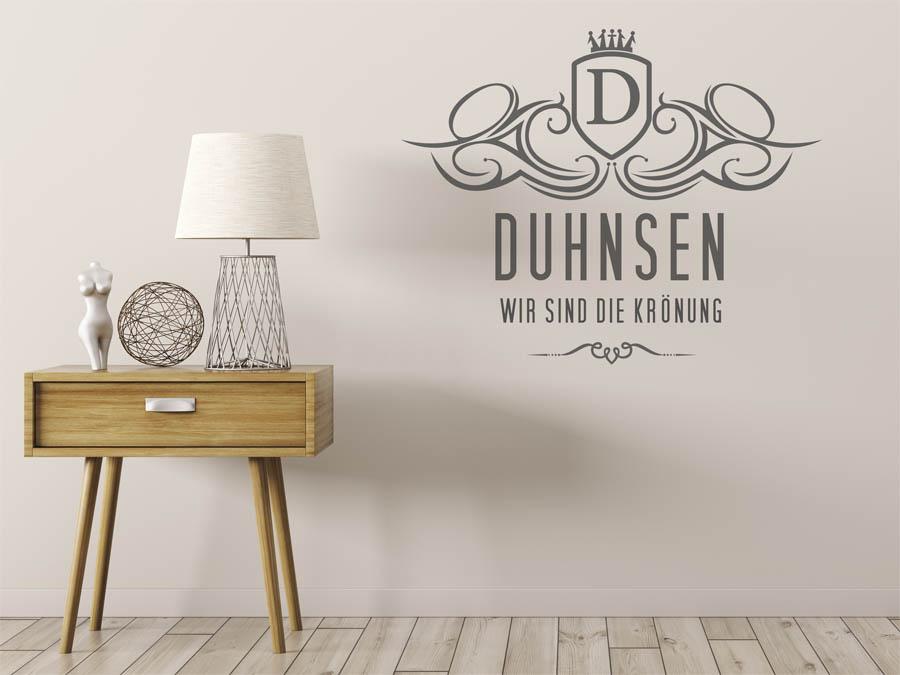 wandtattoo duhnsen als monogramm t rschild oder. Black Bedroom Furniture Sets. Home Design Ideas