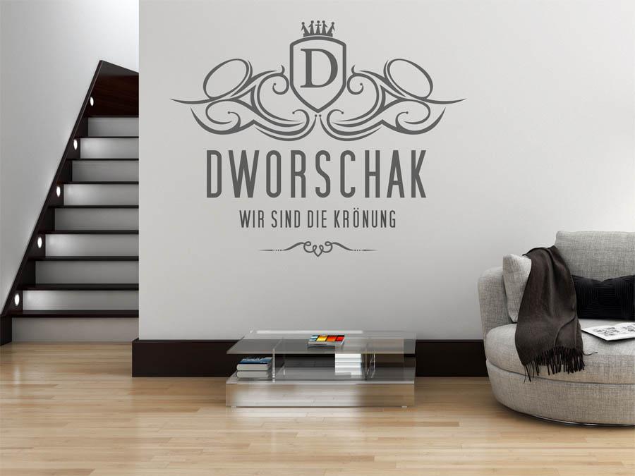 wandtattoo dworschak als monogramm t rschild oder. Black Bedroom Furniture Sets. Home Design Ideas