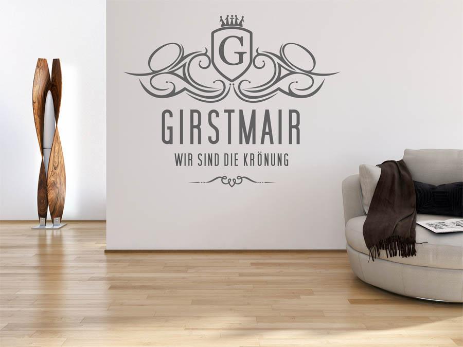 wandtattoo girstmair als monogramm t rschild oder. Black Bedroom Furniture Sets. Home Design Ideas