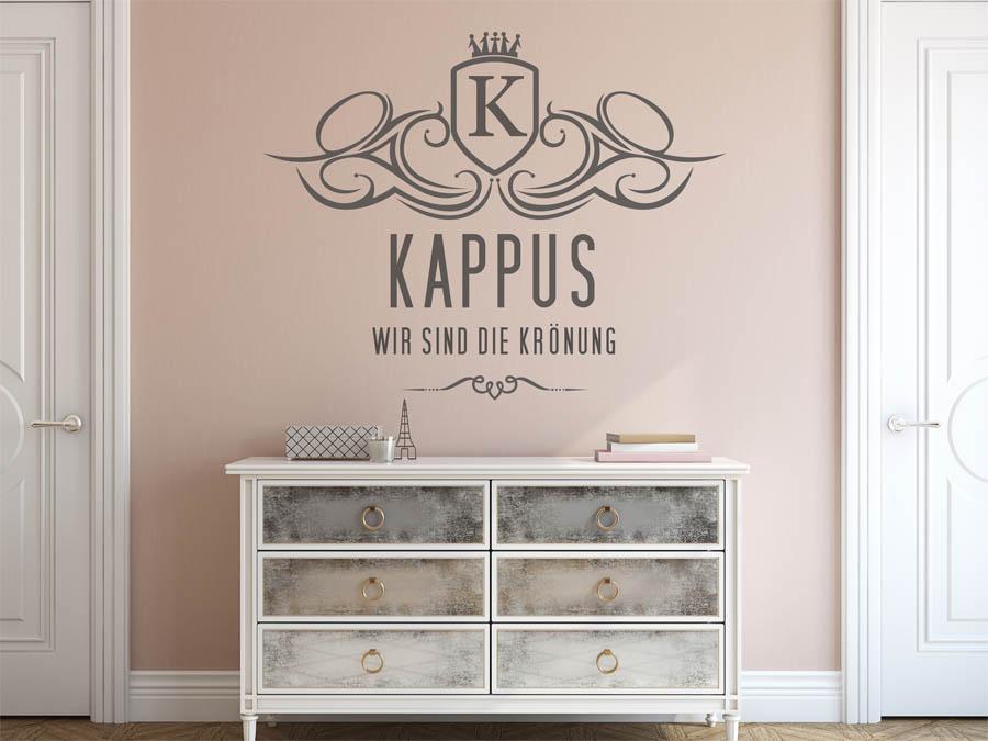 wandtattoo kappus nachname als monogramm t rschild oder. Black Bedroom Furniture Sets. Home Design Ideas