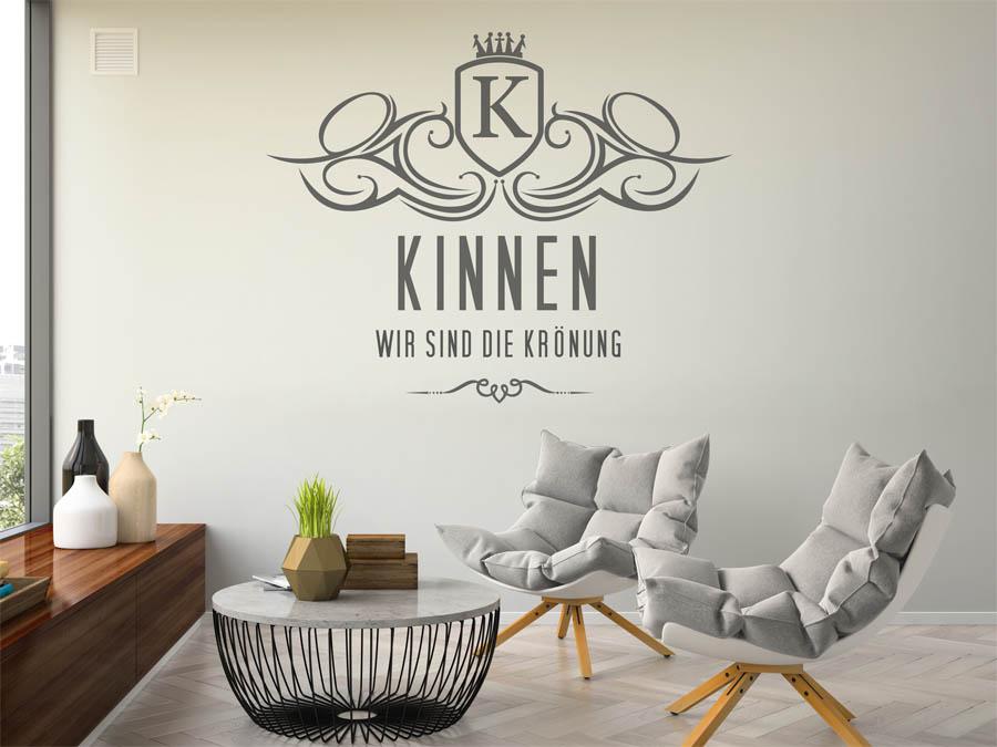 wandtattoo kinnen nachname als monogramm t rschild oder. Black Bedroom Furniture Sets. Home Design Ideas
