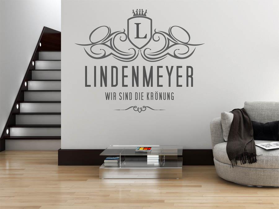 wandtattoo lindenmeyer als monogramm t rschild oder. Black Bedroom Furniture Sets. Home Design Ideas
