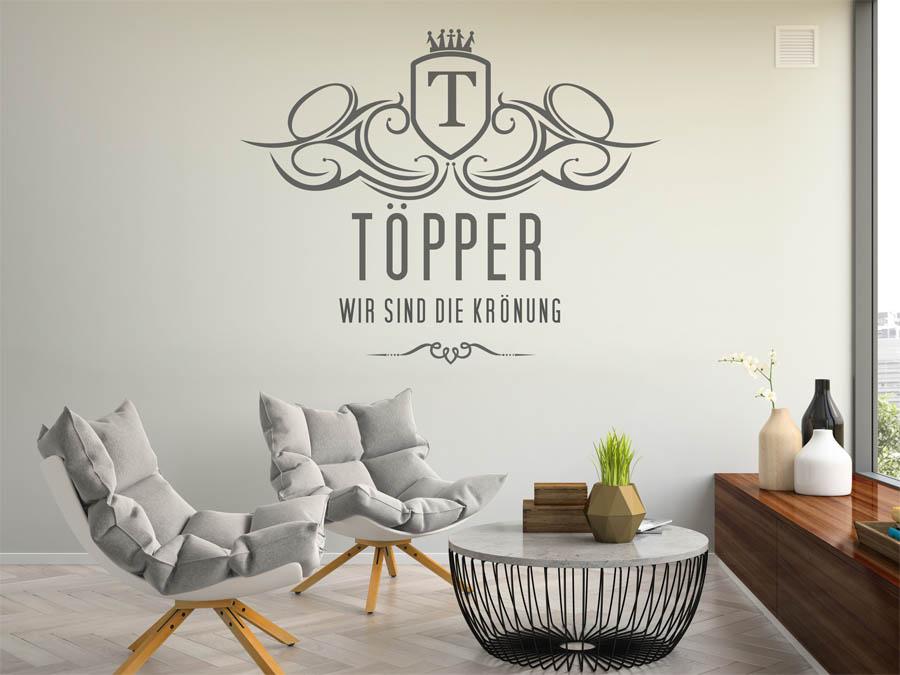 wandtattoo t pper nachname als monogramm t rschild oder. Black Bedroom Furniture Sets. Home Design Ideas