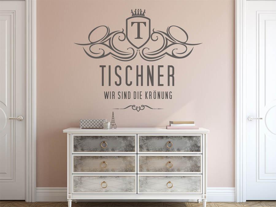 wandtattoo tischner als monogramm t rschild oder. Black Bedroom Furniture Sets. Home Design Ideas