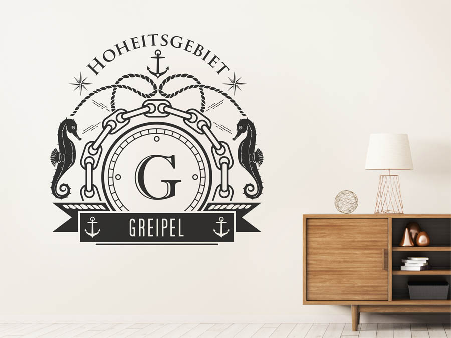 wandtattoo greipel nachname als monogramm t rschild. Black Bedroom Furniture Sets. Home Design Ideas