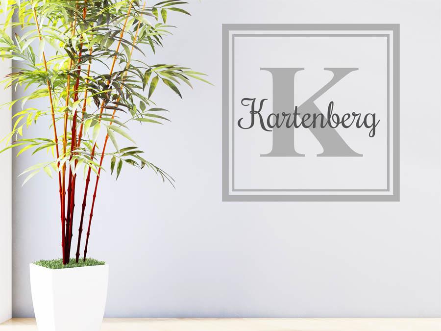 wandtattoo kartenberg nachname als monogramm t rschild. Black Bedroom Furniture Sets. Home Design Ideas