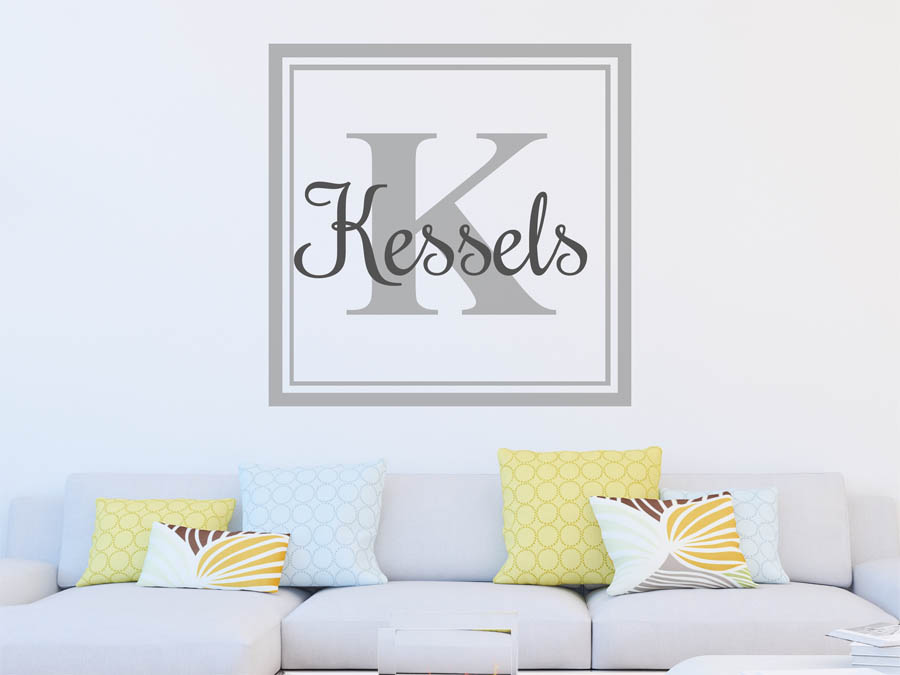 wandtattoo kessels als monogramm t rschild oder. Black Bedroom Furniture Sets. Home Design Ideas