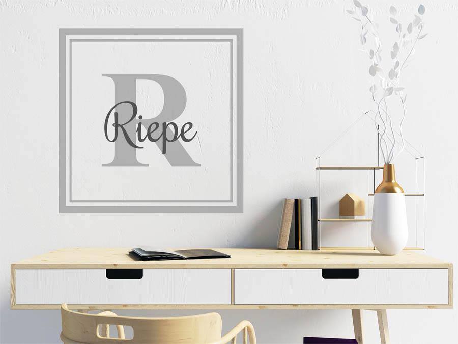 wandtattoo riepe als monogramm t rschild oder familienwappen. Black Bedroom Furniture Sets. Home Design Ideas