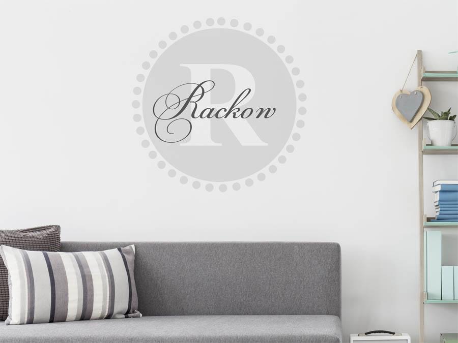 Schon Rackow Familienname Als Rundes Monogramm