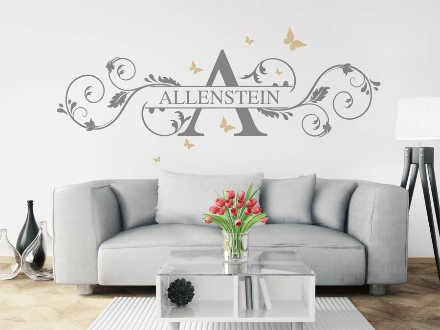 wandtattoo allenstein als monogramm t rschild oder. Black Bedroom Furniture Sets. Home Design Ideas