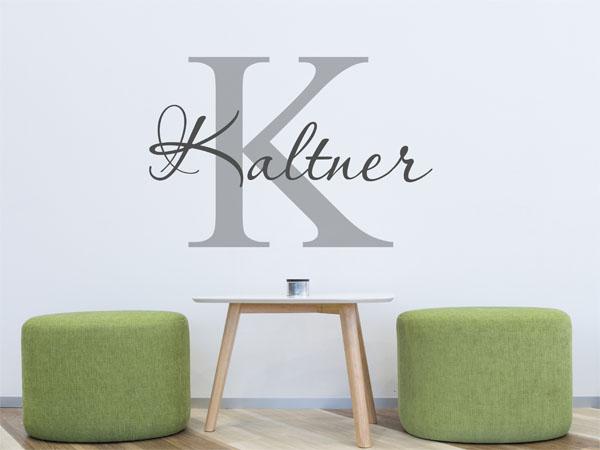 wandtattoo kaltner als monogramm t rschild oder. Black Bedroom Furniture Sets. Home Design Ideas
