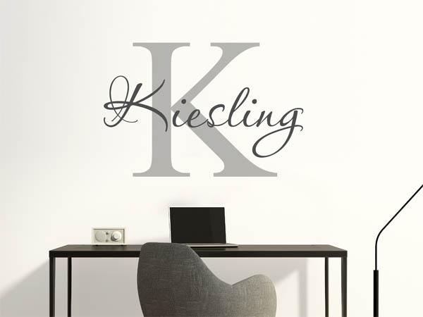 wandtattoo kiesling nachname als monogramm t rschild. Black Bedroom Furniture Sets. Home Design Ideas