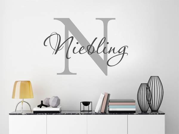 wandtattoo niebling als monogramm t rschild oder. Black Bedroom Furniture Sets. Home Design Ideas