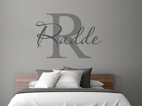 wandtattoo radde als monogramm t rschild oder familienwappen. Black Bedroom Furniture Sets. Home Design Ideas