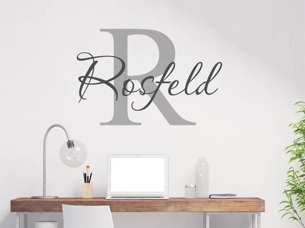wandtattoo rosfeld als monogramm t rschild oder. Black Bedroom Furniture Sets. Home Design Ideas