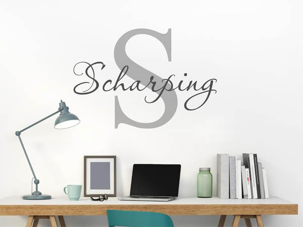 wandtattoo scharping als monogramm t rschild oder. Black Bedroom Furniture Sets. Home Design Ideas