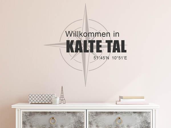 Wandtattoo Kalte Tal - Wandgestaltung für Kalte Taler