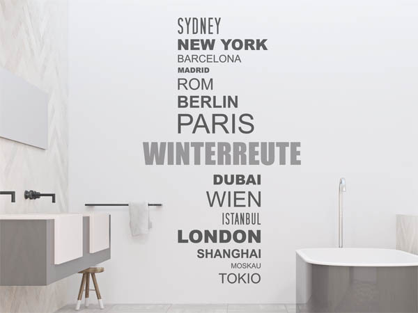 Wandtattoo Winterreute Mit Weltstädten