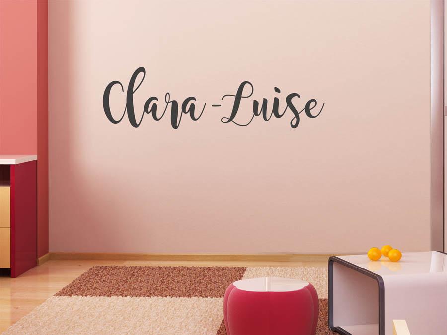 Wandtattoo clara luise als namensschild monogramm oder for Kinderzimmer clara