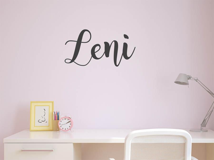 Wandtattoo Leni als Namensschild, Monogramm oder ...