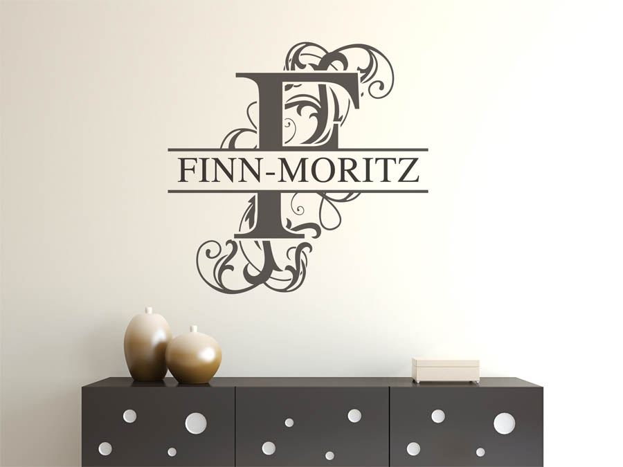 wandtattoo finn moritz vorname als namensschild. Black Bedroom Furniture Sets. Home Design Ideas