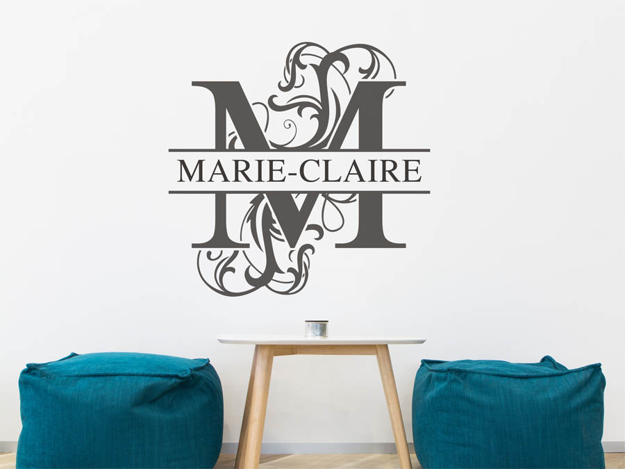 wandtattoo marie claire vorname als namensschild. Black Bedroom Furniture Sets. Home Design Ideas