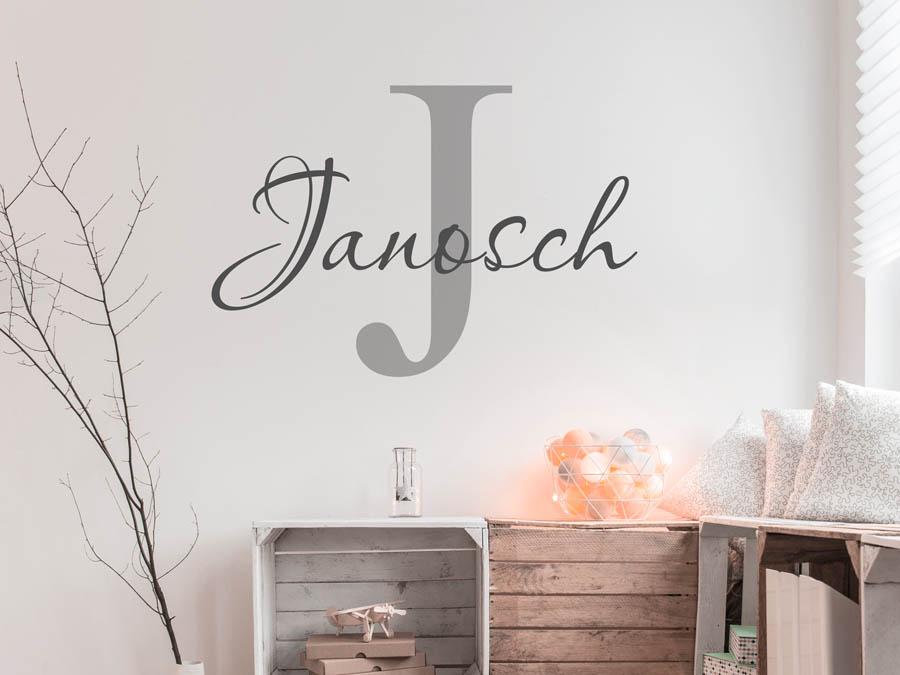 Wandtattoo Janosch Als Namensschild Monogramm Oder Verschnorkelte Schrift