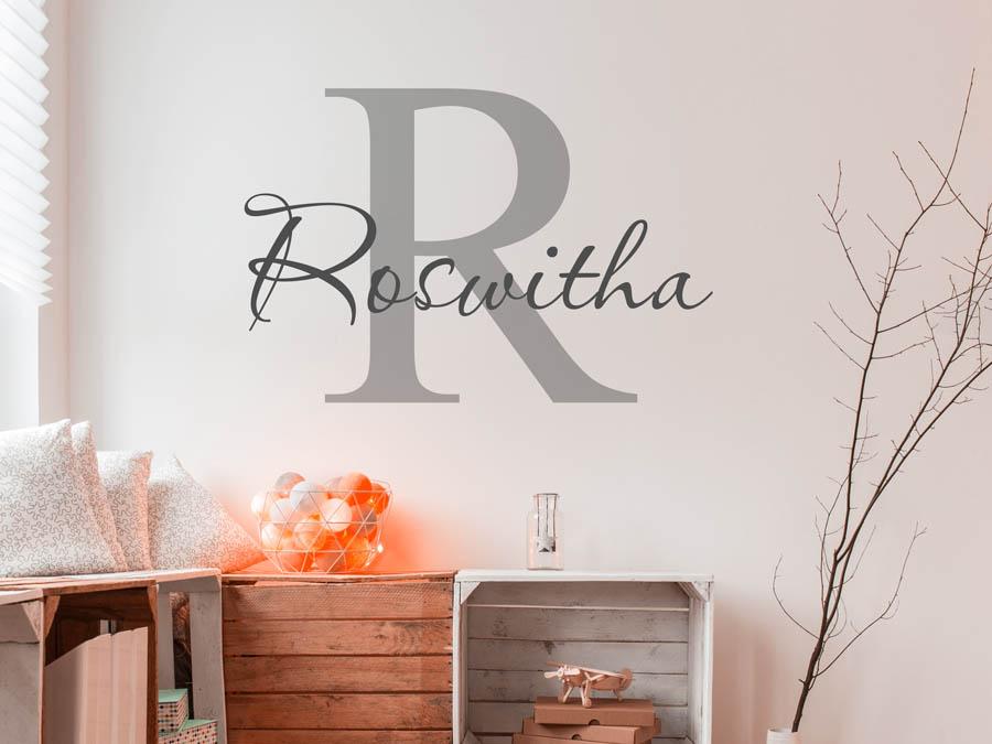 Wandtattoo Roswitha als Namensschild, Monogramm oder ...