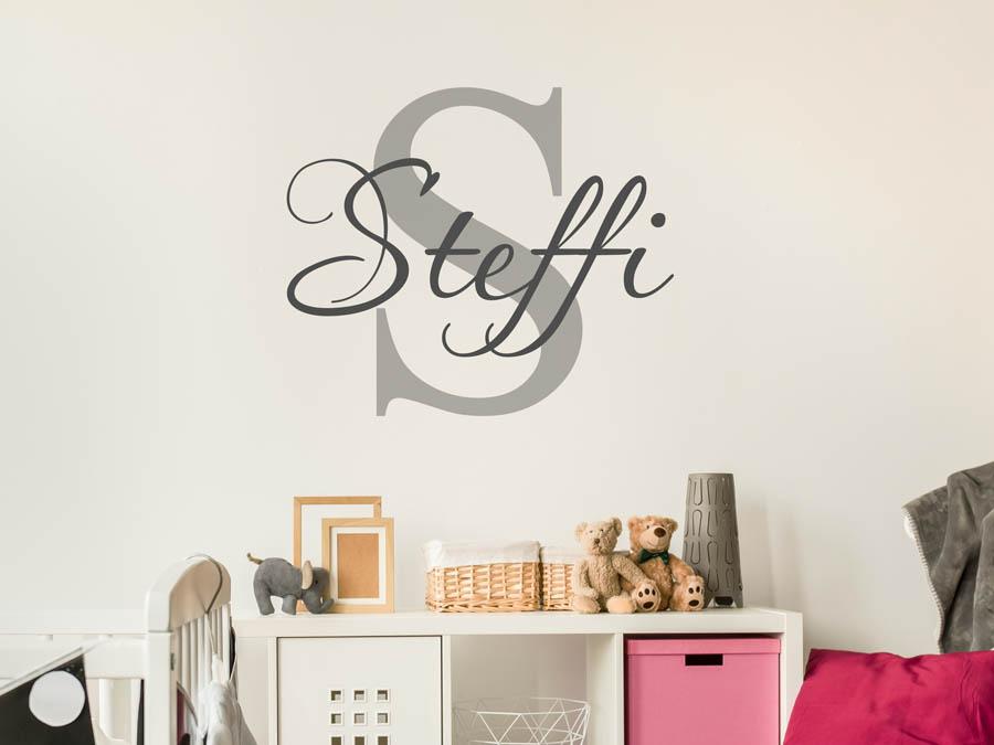 Wandtattoo steffi als namensschild monogramm oder - Jugendzimmer steffi ...