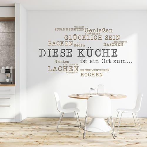 Wandtattoo Küche