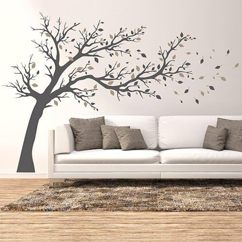 Wandtattoo Baum im Wohnzimmer